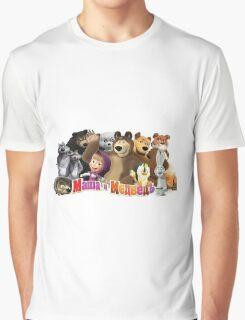 Masha and the bear Graphic T-Shirt