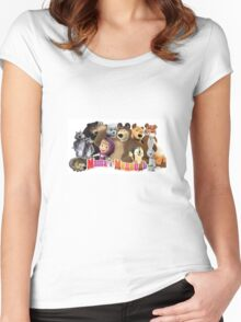 Masha and the bear Women's Fitted Scoop T-Shirt