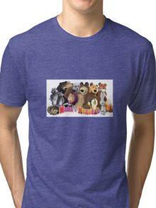 Masha and the bear Tri-blend T-Shirt