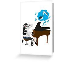 zebra & piano Greeting Card