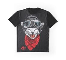 SALJU'S Funky CAT Graphic T-Shirt
