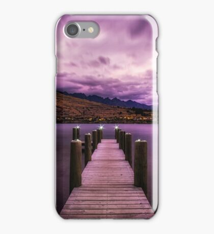 dreamy sky over lake wakatipu iPhone Case/Skin