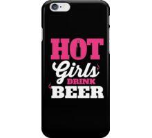 Hot girls drink beer iPhone Case/Skin