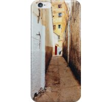 Alley in Residential Neighbourhood in Morocco iPhone Case/Skin