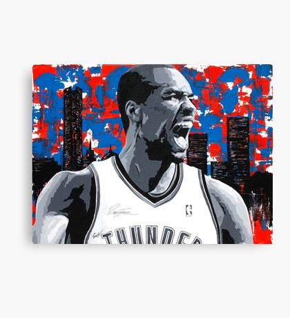 Ibaka Painting from the Roar Collection Canvas Print