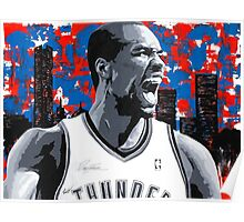 Ibaka Painting from the Roar Collection Poster