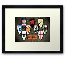 Some Knights Framed Print
