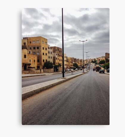 Suburb in Morocco Canvas Print