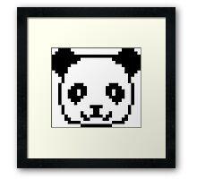 Panda Pixel Art Framed Print