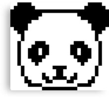 Panda Pixel Art Canvas Print