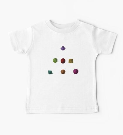 Colourful Polyhedron Dice Baby Tee
