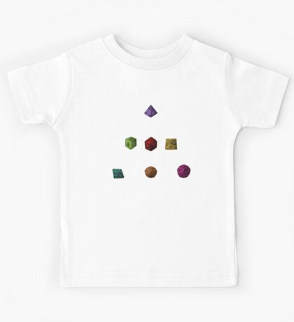 Colourful Polyhedron Dice Kids Tee