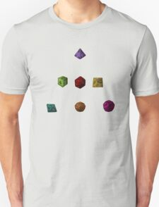 Colourful Polyhedron Dice T-Shirt
