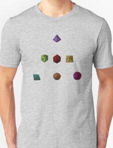 Colourful Polyhedron Dice Unisex T-Shirt