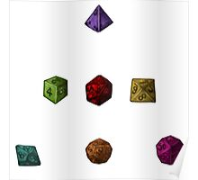 Colourful Polyhedron Dice Poster