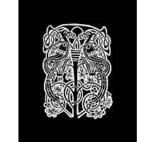 Celtic owl width birds on vine tree Photographic Print