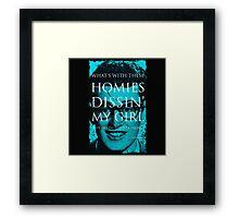 SONG LYRICS : BUDDY HOLLY  Framed Print