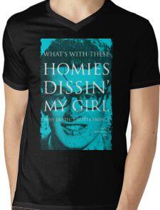SONG LYRICS : BUDDY HOLLY  Mens V-Neck T-Shirt