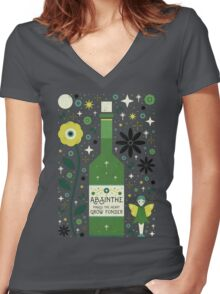 Absinthe  Women's Fitted V-Neck T-Shirt