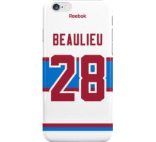 Montreal Canadiens Nathan Beaulieu 2016 Winter Classic Jersey Back Phone Case iPhone Case/Skin