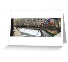 Rockefeller Center Ice Rink Greeting Card