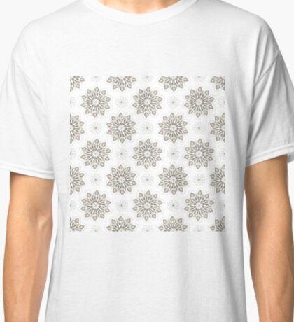 Wolf (white) - Organic Animal Skull Repeat Pattern Series Classic T-Shirt