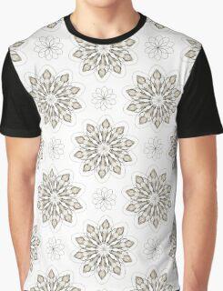 Wolf (white) - Organic Animal Skull Repeat Pattern Series Graphic T-Shirt