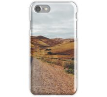 Empty Road in Dry Hilly Countryside iPhone Case/Skin