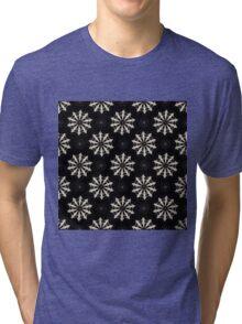 Wolf (Black) - Organic Animal Skull Repeat Pattern Series Tri-blend T-Shirt