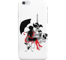 Graphic silhouette of a woman iPhone Case/Skin