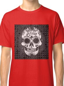 Shabby black and white Sugarskull Classic T-Shirt