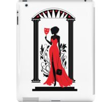 Graphic silhouette of a woman. Isabelle series iPad Case/Skin
