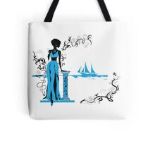 Background with tropical plants Tote Bag