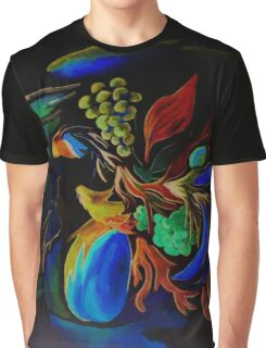 Fruit and Flowers Graphic T-Shirt