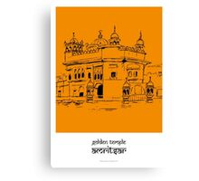 Sketches of India - Golden Temple Canvas Print