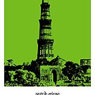 Sketches of India - Qutub Minar - Delhi by springwoodbooks