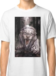 Fierce Albino Ice Age Smilodon (Sabre Tooth Tiger) Classic T-Shirt