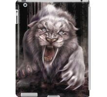 Fierce Albino Ice Age Smilodon (Sabre Tooth Tiger) iPad Case/Skin