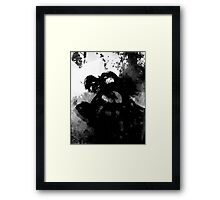 Woman on fire Framed Print
