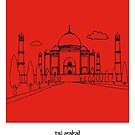 Sketches of India - Taj Mahal by springwoodbooks