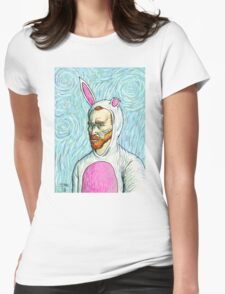 Van Gogh bunny costume Womens Fitted T-Shirt