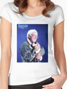Bernie and his Cat Funny Women's Fitted Scoop T-Shirt