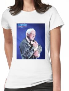Bernie and his Cat Funny Womens Fitted T-Shirt