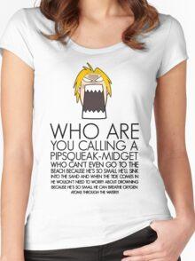 Edward Elric Full Metal Alchemist Short Women's Fitted Scoop T-Shirt