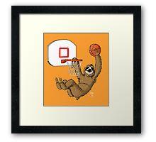 Basketballing sloth Framed Print