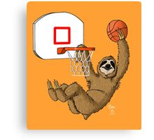 Basketballing sloth Canvas Print