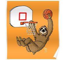 Basketballing sloth Poster