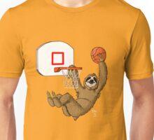 Basketballing sloth Unisex T-Shirt