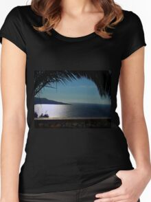 Beautiful Blue Bay Of Naples Women's Fitted Scoop T-Shirt