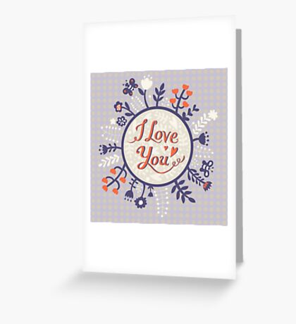 Love is all for people Greeting Card